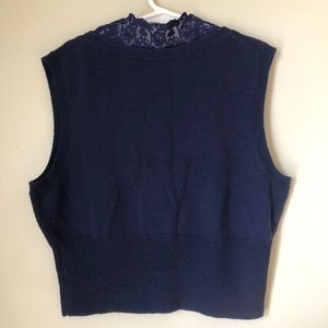 Urban Outfitters Sweaters - Kimchi & Blue | Cropped lace lined sweater vest